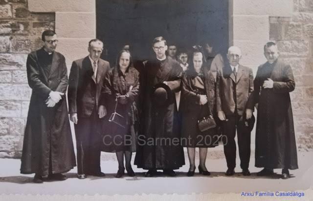 Pere Casaldàliga celebra la seva primera missa com a capellà a Balsareny