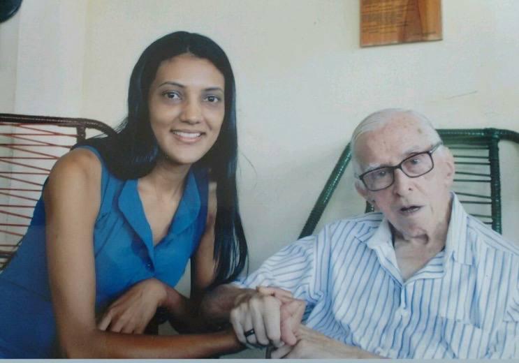 Zilda Martins amb en Pere Casaldàliga a São Félix