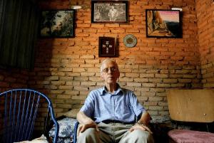 Pere Casaldàliga a la seva habitació a São Félix do Araguaia