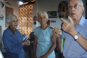 Pere Casaldàliga, la Germana Irene i la Germana Veva a São Félix do Araguaia