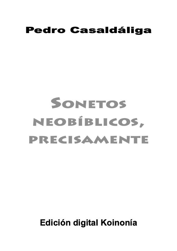 Sonetos Neobíblicos - Contra Capa
