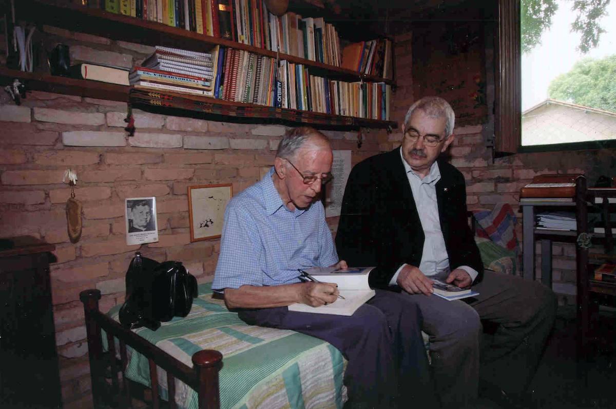 Pere Casaldàliga amb Pasqual Maragall